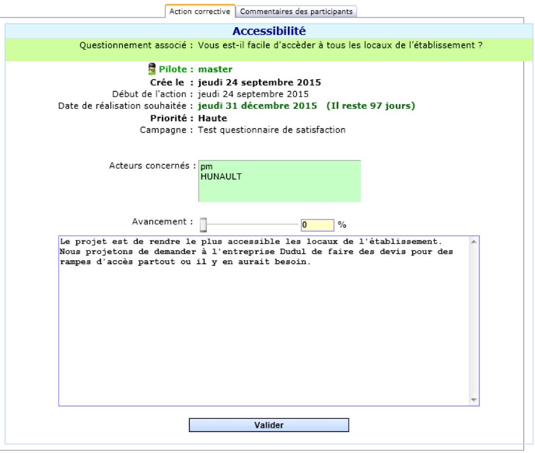 Logiciel de gestion des questionnaires de satisfaction des usagers dans les établissements médico-sociaux